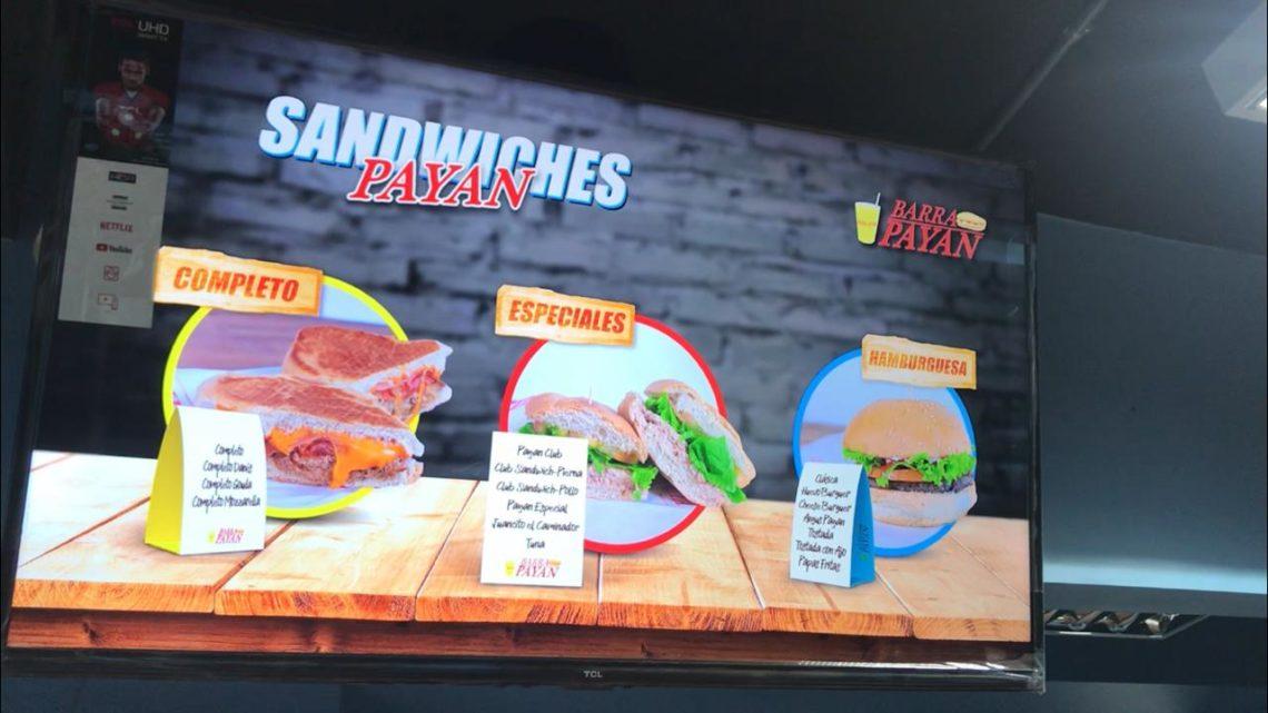 pantalla menu animado